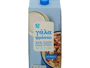 Φρέσκο Γάλα 3.5% Λιπαρά 2 lt