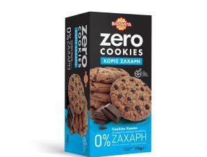 Μπισκότα Zero Cookies Κακάο & Μαύρη Σοκολάτα Χωρίς Ζάχαρη 170g