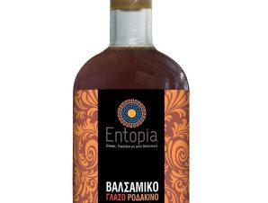 """Βαλσάμικο γλάσο με ροδάκινο """"Entopia"""" 250ml>"""