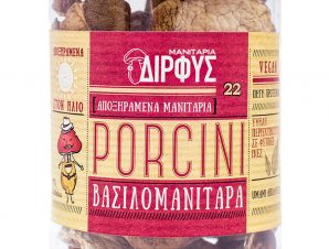 """Αποξηραμένα μανιτάρια «Βασιλομανίταρα» (Porcini) Εύβοιας """"Δίρφυς"""" 30g>"""