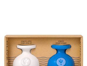 """Σετ δώρου με βιολογικό εξαιρετικό παρθένο & βιολογικό γλυκό ξίδι """"Ladolea"""" (2x100ml)>"""