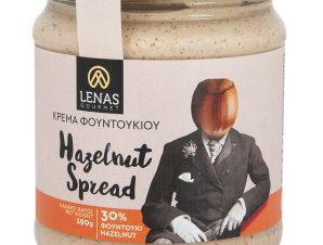 """Χειροποίητο άλειμμα φουντουκιού χωρίς γλουτένη, Κορινθίας """"Lena's Gourmet"""" 190g>"""