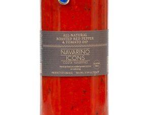"""Άλειμμα ψητής κόκκινης πιπεριάς & τομάτας, χωρίς γλουτένη, Μεσσηνίας """"Navarino Icons"""" 500g>"""