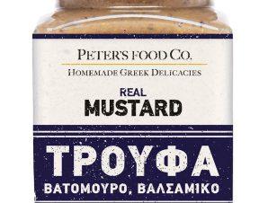 """Μουστάρδα με τρούφα, βατόμουρο & βαλσάμικο, χωρίς γλουτένη """"Peter's Deli"""" 210ml>"""