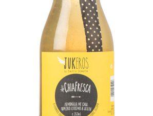 """Χειροποίητη λεμονάδα με αγαύη, δυόσμο & σπόρους chia, χωρίς ζάχαρη & γλουτένη, «Chia Fresca» """"Jukeros"""" 250ml>"""
