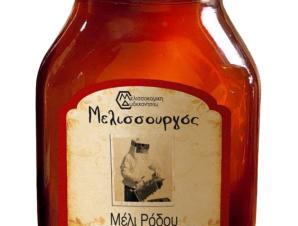 """Μέλι πεύκου, θυμαριού & ανθέων, Ρόδου """"Μελισσουργός"""" 450g>"""