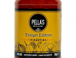 """Σάλτσα τομάτας «Πικάντικη», Πέλλας """"Pella's Delicasies"""" 360g>"""