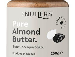 """Κλασικό βούτυρο αμυγδάλου, χωρίς ζάχαρη, Βόλου """"The Nutlers"""" 250g>"""