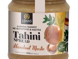 """Χειροποίητο άλειμμα ταχινιού με φουντούκι & μαστίχα, χωρίς ζάχαρη, Κορινθίας """"Lena's Gourmet"""" 190g>"""