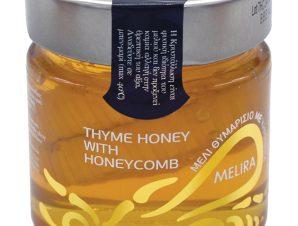 """Θυμαρίσιο μέλι με κηρήθρα Εύβοιας """"Melira"""" 280g>"""