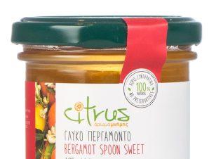 """Παραδοσιακό γλυκό κουταλιού περγαμόντο, Χίου """"Citrus"""" 125g>"""