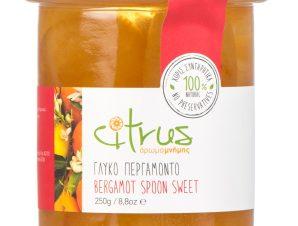 """Παραδοσιακό γλυκό κουταλιού περγαμόντο, Χίου """"Citrus"""" 250g>"""