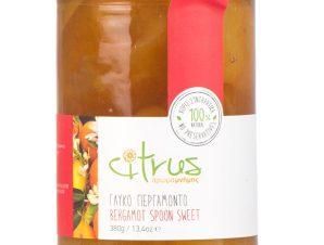 """Παραδοσιακό γλυκό κουταλιού περγαμόντο, Χίου """"Citrus"""" 380g>"""