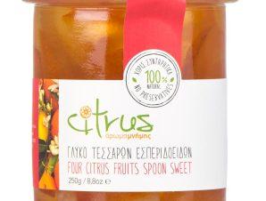 """Παραδοσιακό γλυκό κουταλιού τεσσάρων εσπεριδοειδών, Χίου """"Citrus"""" 250g>"""
