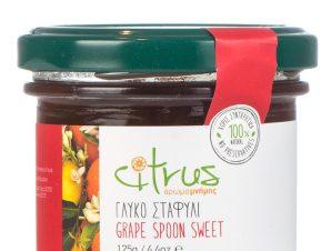 """Παραδοσιακό γλυκό κουταλιού σταφύλι, Χίου """"Citrus"""" 125g>"""