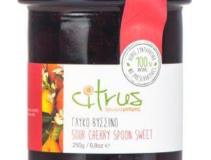 """Παραδοσιακό γλυκό κουταλιού βύσσινο, Χίου """"Citrus"""" 250g>"""