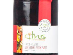 """Παραδοσιακό γλυκό κουταλιού βύσσινο, Χίου """"Citrus"""" 380g>"""